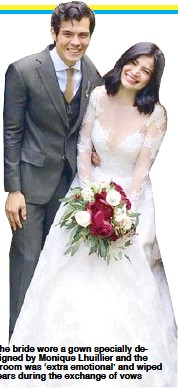 The Bride Wore A Gown Specially Designed By Monique Lhuillier And Groom Was Extra Emotional Wiped Tears During Exchange Of Vows