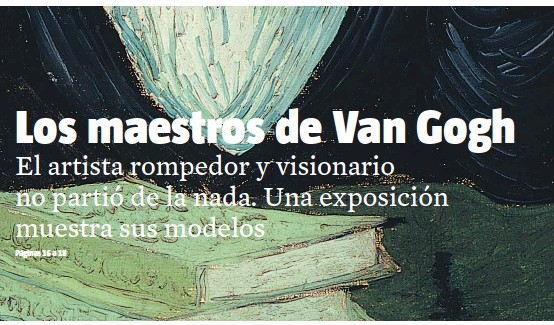 pressreader la vanguardia culturas 2015 05 09 los maes tros de van gogh. Black Bedroom Furniture Sets. Home Design Ideas