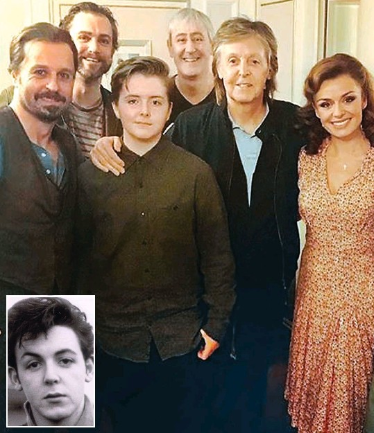 Mini Me Paul McCartney Pictured Inset In His Teenage Years Goes Backstage With 13 Year Old Beatrice To Right They Met The Stars Of Carousel