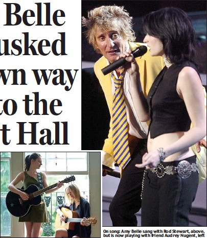 Pressreader scottish daily mail 2015 05 18 rods belle has on song amy belle sang with rod stewart above but is now playing with friend audrey nugent left altavistaventures Images