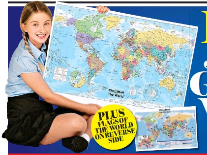 Pressreader the irish mail on sunday 2017 10 01 free jumbo once you have collected the two differently dated tokens fill out the application form and we will send you your free glossy world map gumiabroncs Images