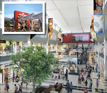 Menlyn Park Shopping Centre, built in 1979, is undergoing a R2.5 billion  redevelopment that will make it the largest mall in Africa.