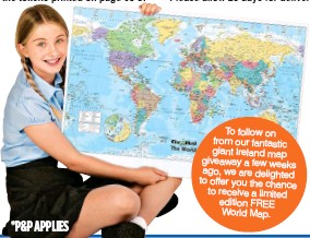 Pressreader the irish mail on sunday 2017 10 01 free jumbo on from our fantastic giant ireland map giveaway a few weeks ago we are delighted to offer you the chance to receive a limited edition free world map gumiabroncs Images