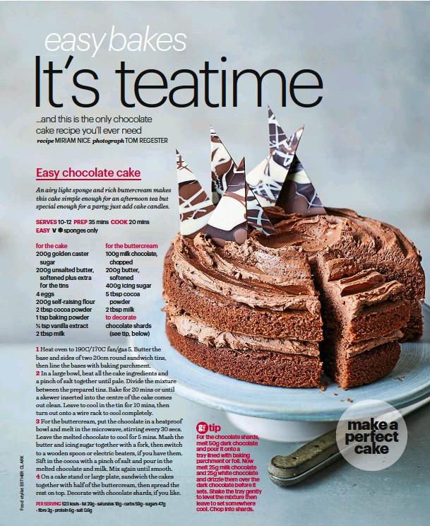 Pressreader bbc good food 2017 09 28 easy bakes make our per serving 523 kcals fat 29g saturates 18g carbs 59g sugars 47g fibre 2g protein 6g salt 06g forumfinder Choice Image