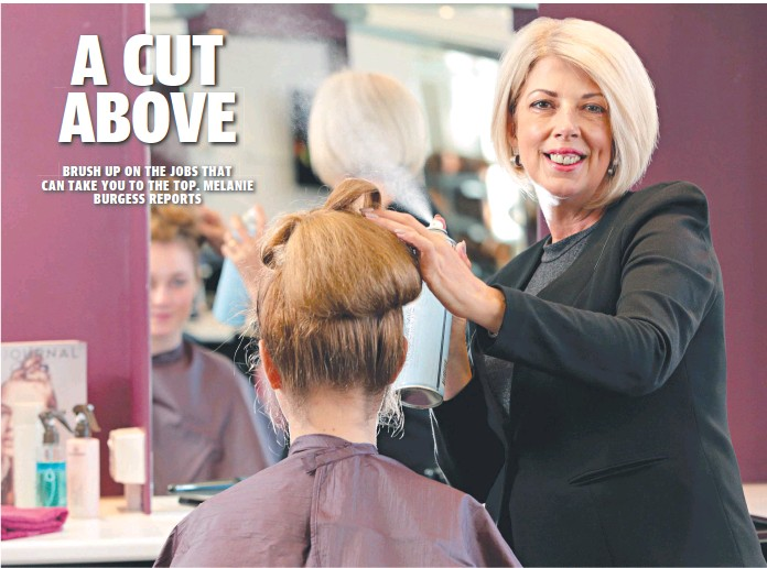Hands On Vet Teacher Trainer Of The Year Tafe Hairdressing Donna Colombini With Student Melanie Bertossi Picture John Fotiadis