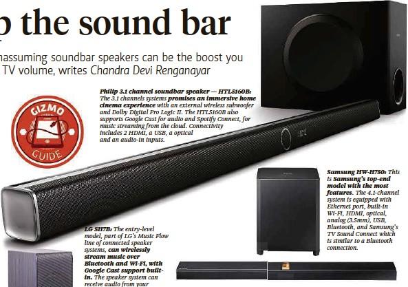Philip 3 1 Channel Soundbar Speaker Htl5160b