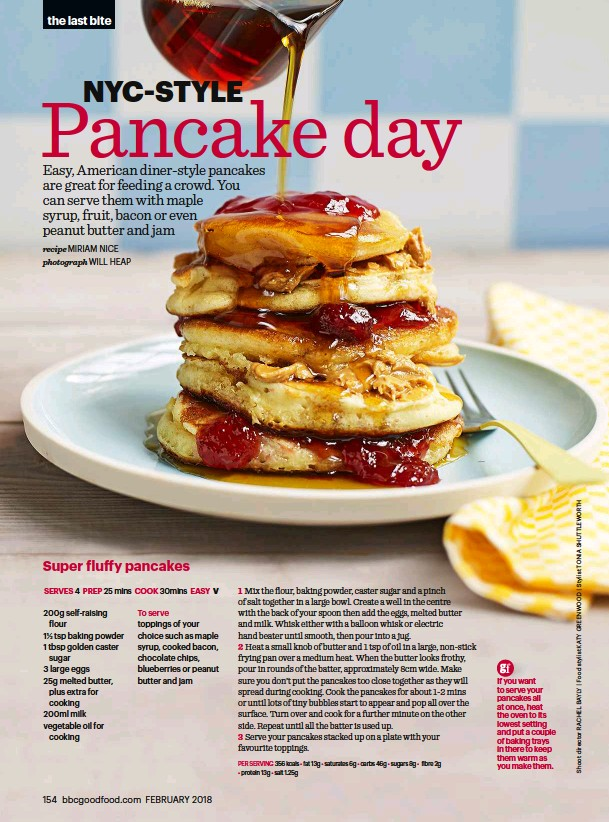 How to make american pancakes bbc good food pressreader bbc good food 2018 02 01 the last bite chocolate batter pancakes forumfinder Choice Image