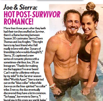 is joe from survivor dating anyone