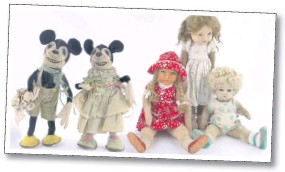 Below Some Of The Queens Collection Including Early Models Mickey And Minnie Mouse
