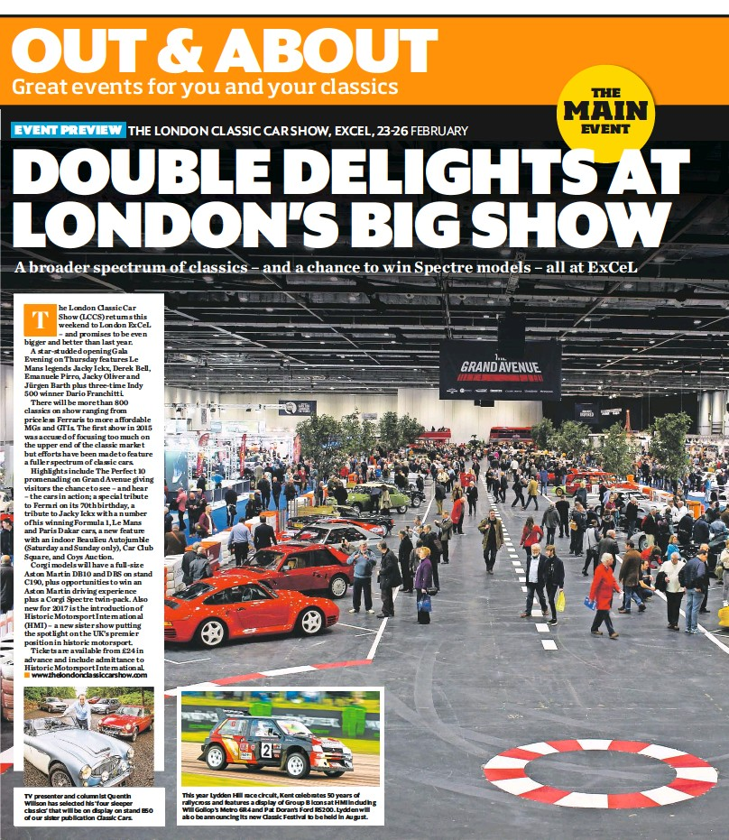 PressReader - Classic Car Weekly (UK): 2017-02-22 - Preview: London ...