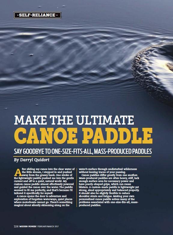 pressreader modern pioneer 2017 03 01 make the ultimate canoe