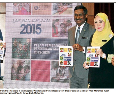 Pressreader the star malaysia 2016 08 14 first wave of the education for all muspirah ahmad salim a teacher at sekolah menengah pendidikan khas penglihatan reading out the blueprints annual report to her malvernweather Images