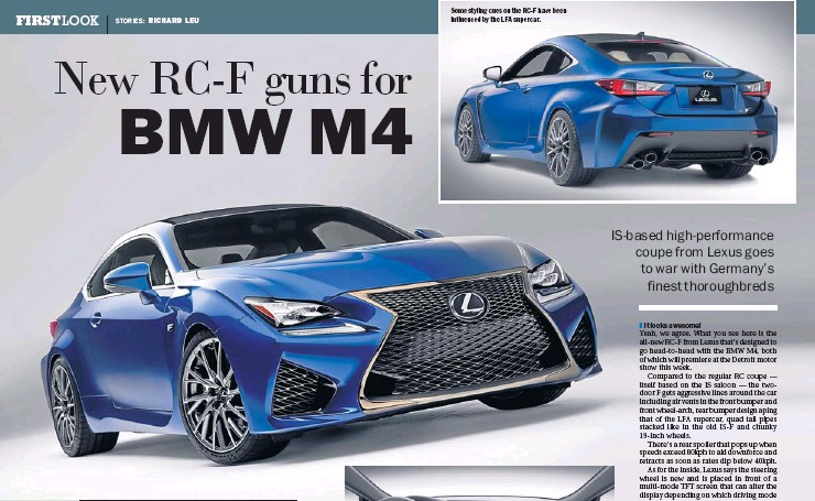 PressReader - Bangkok Post: 2014-01-13 - New RC-F guns for