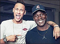 f8377778e036 PARTNERS: Neymar and NBA legend Michael Jordan have teamed up to create a  new Nike football boot.