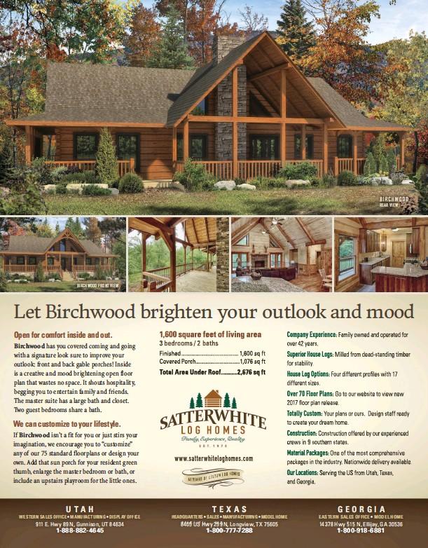 PressReader - Log Home Living: 2017-08-01 - Let Birchwood brighten ...