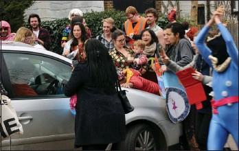 Hasil gambar untuk farage family lunch mob