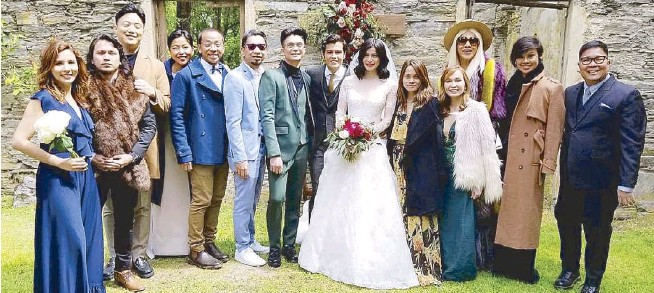 Newlywed Anne Curtis And Erwan Heussaff With Guests That Included S It Showtime Co Hosts Karylle Husband Yael Yuzon Ryan Bang