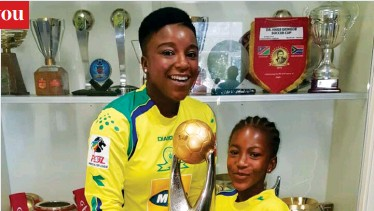 Pressreader afro voice national edition 2016 11 02 wake up gift of love sundowns celebrating their caf victory invited gift moremis widow mamello and their daughter kelebogile negle Gallery