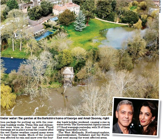 Clooney's sinking feeling as floods lap at mansion Getimage