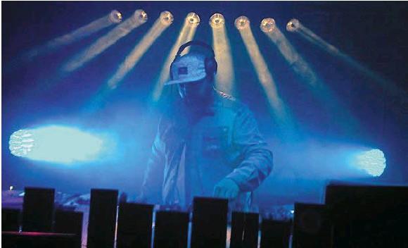 Pornic - 04/08/2018 - Performance électronique au château de Pornic