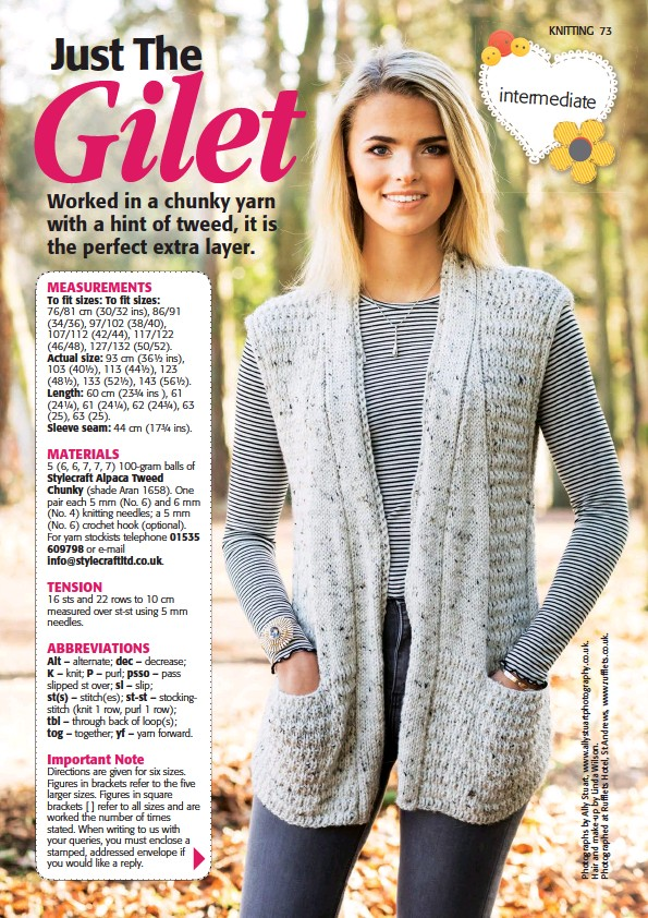 PressReader - The People\'s Friend: 2018-03-31 - Knitting: Just The Gilet