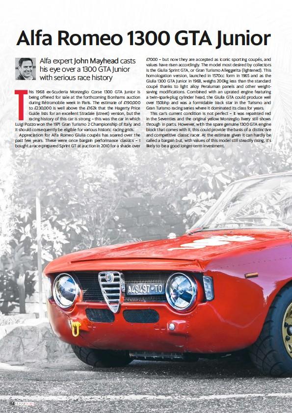 pressreader - classic cars (uk): 2017-01-25 - an alfa romeo 1300