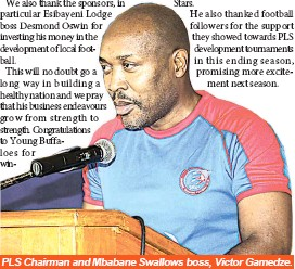 Pressreader sunday observer 2017 05 28 take a bow for birds pls chairman and mbabane swallows boss victor gamedze stopboris Gallery