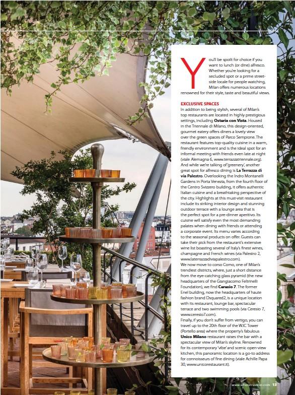 Pressreader Where Milan 2017 06 01 Dining At The Top