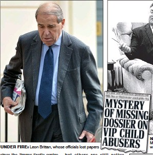 "Image result for ""leon brittan"" + ""missing files"""