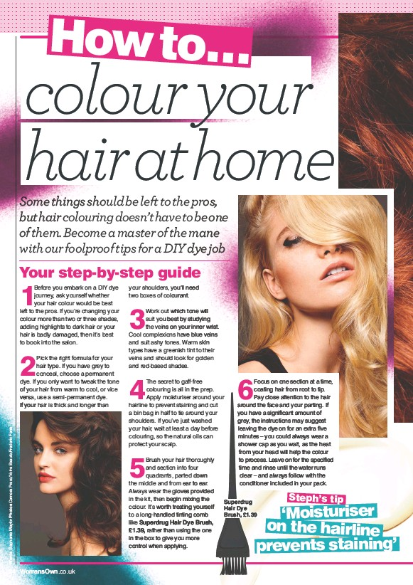 Pressreader womans own 2017 03 27 how to colour your hair at home superdrug hair dye brush 139 solutioingenieria Gallery
