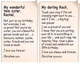 Pressreader daily mail 2017 09 06 the twin whos still sending moving loving messages written before christine died bookmarktalkfo Gallery
