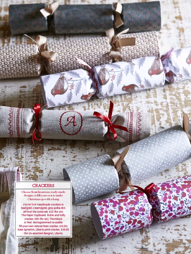 Pressreader country living uk 2016 12 12 crackers monogrammed re usable fill your own natural linen cracker 1350 kate sproston liberty print cracker 3995 for six assorted designs liberty solutioingenieria Gallery