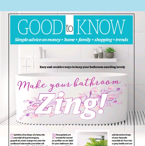 PressReader YOURS UK Make Your Bathroom Zing - How to keep bathroom smelling fresh naturally