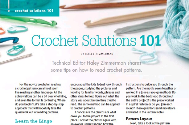 Pressreader Crochet 2016 03 01 Crochet Solutions 101