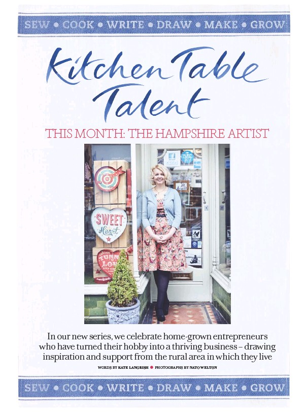 Kitchen Table Talent Pressreader country living uk 2017 03 01 kitchen table talent for a few months vicki continued with her job and began creating a stockpile of her paintings in the evenings and at workwithnaturefo