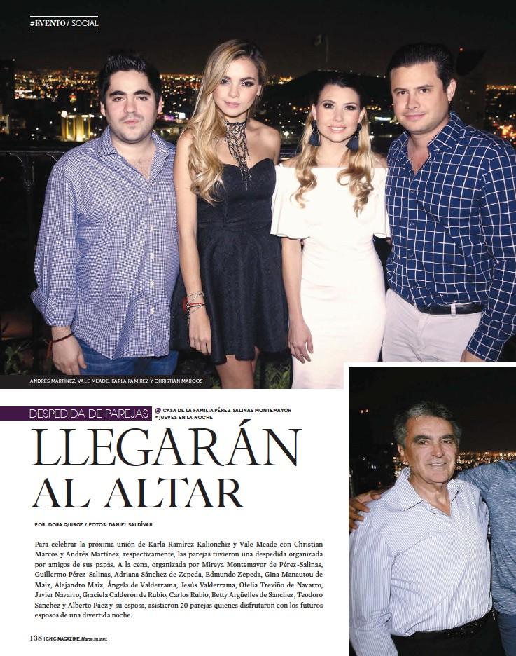 PressReader - Chic Magazine Monterrey: 2017-03-30 - LLEGARÁN AL ALTAR