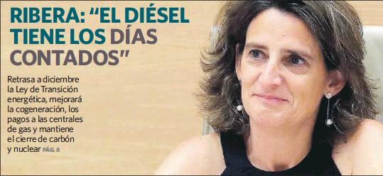 """RIBERA: """"EL DIÉSEL TIENE LOS DÍAS CONTADOS"""""""
