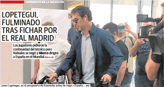 LOPETEGUI, FULMINADO TRAS FICHAR POR EL REAL MADRID