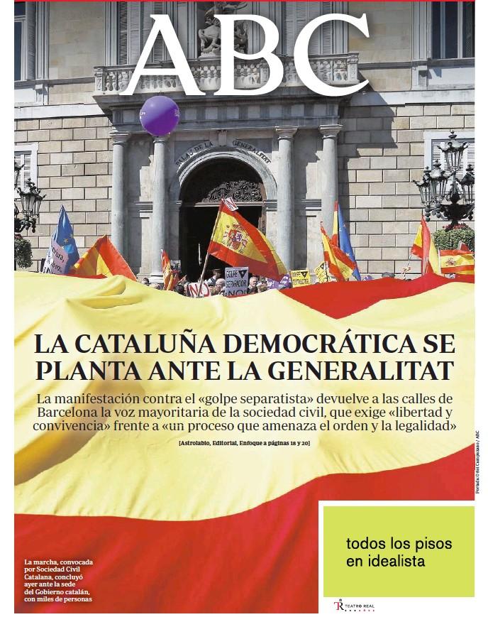 LA CATALUÑA DEMOCRÁTICA SE PLANTA ANTE LA GENERALITAT