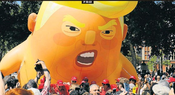TRUMP ESQUIVA LES PROTESTES A LONDRES