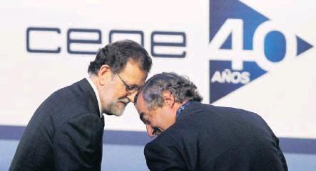 CUMBRE EMPRESARIAL DE CEOE LOS EMPRESARIOS RECLAMAN A RAJOY MENOS IMPUESTOS E INTENSIFICAR LAS REFORMAS—