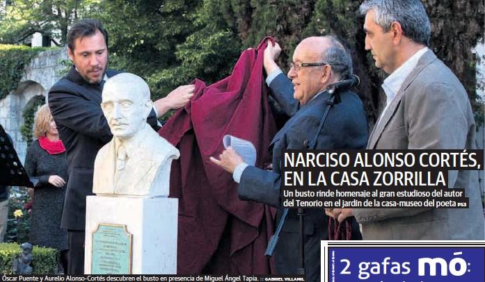 NARCISO ALONSO CORTÉS, EN LA CASA ZORRILLA