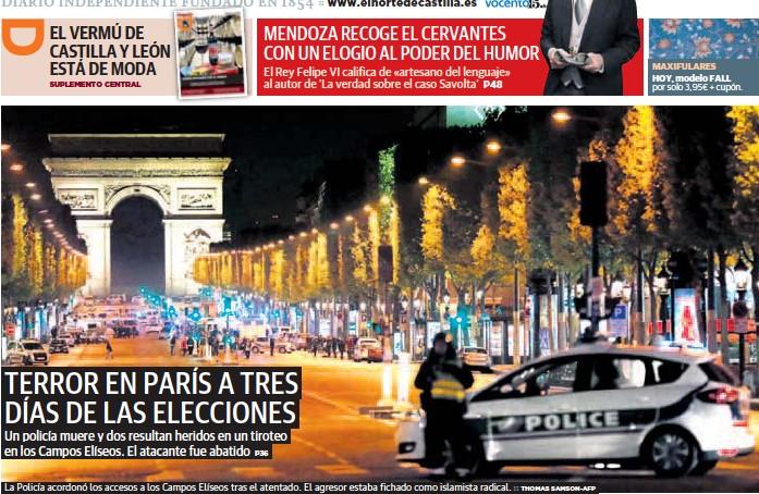 TERROR EN PARÍS A TRES DÍAS DE LAS ELECCIONES