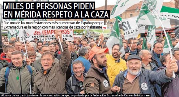 MILES DE PERSONAS PIDEN EN MÉRIDA RESPETO A LA CAZA