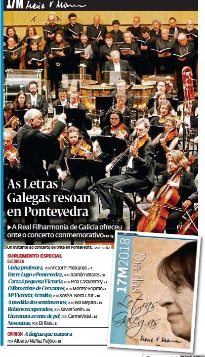 AS LETRAS GALEGAS RESOAN EN PONTEVEDRA
