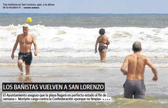 LOS BAÑISTAS VUELVEN A SAN LORENZO