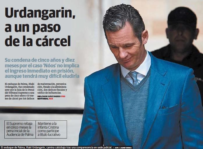 URDANGARIN, A UN PASO DE LA CÁRCEL