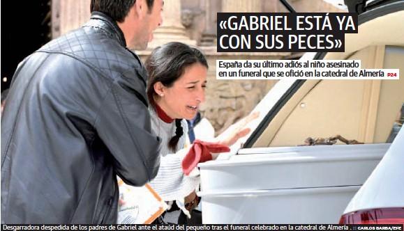 «GABRIEL ESTÁ YA CON SUS PECES»